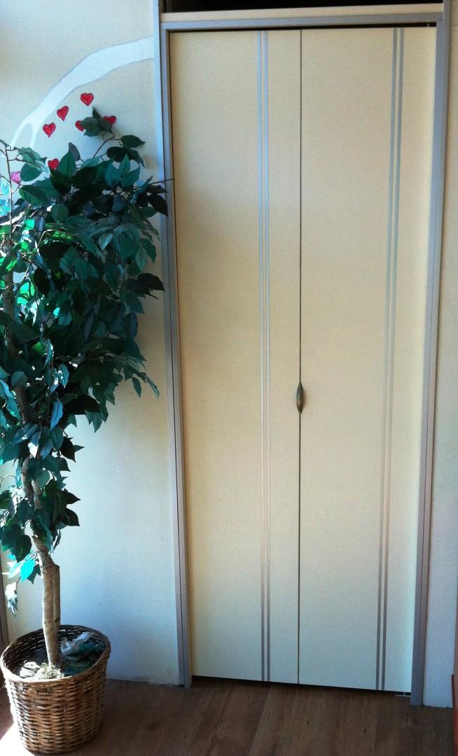 דלת מתקפלת צבע לבןשמפניה